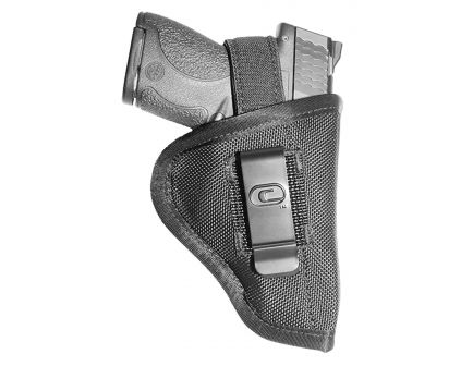 """GSM Outdoors The Undercover Ambidextrous Hand 2"""" to 2.5"""" Sub-Compact Low-Profile Inside/Outside-The-Waistband Conceal Carry Holster, Textured Black - CRF-TUSA1S-2"""