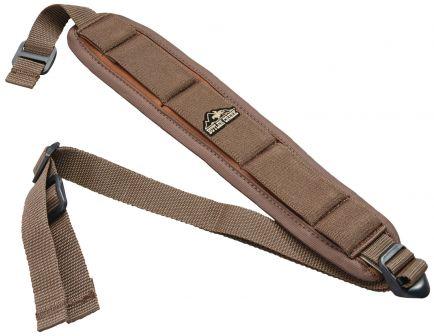 Butler Creek Comfort Stretch Adjustable Firearm Sling w/ Swivels, Brown - 180015
