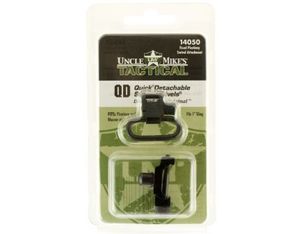 """Uncle Mike's 1"""" Quick Detach Fixed Sling Swivel, Black - 14050"""