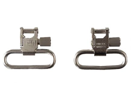 """Uncle Mike's 1"""" Quick Detach Sling Swivel, for Ruger 10/22, Nickel Plated - 14622"""