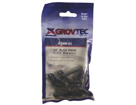 "GrovTec 0.5"" Wood Screw, Black, 12/pack - GTHM60"