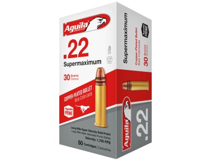 Aguila Special .22 LR Supermaximum 30 gr Solid Point  Ammo, 50/box - 1B222298