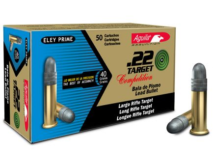 Aguila Target .22 LR 40 gr Lead Round Nose Ammo, 50/box - 1B222500
