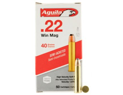 Aguila Special .22 WMR 40 gr Semi-Jacketed Soft Point Ammo, 50/box - 1B222401
