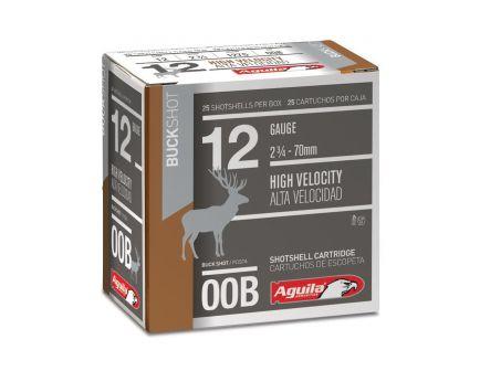 "Aguila Field 2.75"" 12 Gauge Ammo 00 Buck, 25/box - 1CHB1320"