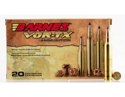 Barnes Bullets VOR-TX 150 gr Tipped TSX Boat Tail .300 Win Mag Ammo, 20/box - 21569