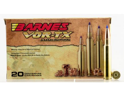 Barnes Bullets VOR-TX 225 gr Tipped TSX Boat Tail .338 Win Mag Ammo, 20/box - 21542