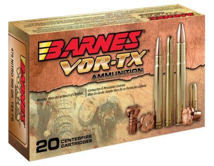 Barnes Bullets VOR-TX Safari 500 gr TSX Flat Base .470 Nitro Express Ammo, 20/box - 22030