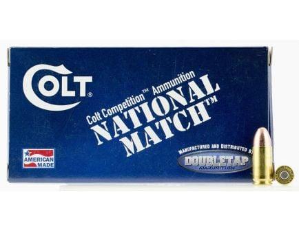 Colt DT Defense, National Match 124 gr Full Metal Jacket 9mm Ammo, 50/box - 9M124FMJCT
