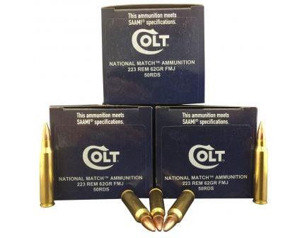 Colt DT Defense, National Match 62 gr Full Metal Jacket .223 Rem Ammo, 50/box - 223R62FMJCT