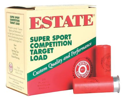 "Estate Cartridge Super Sport 2.75"" 12 Gauge Ammo 8, 25/box - SS12XH18"