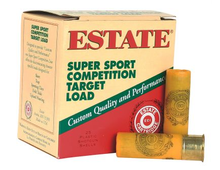 "Estate Cartridge Super Sport 2.75"" 20 Gauge Ammo 7-1/2, 250 Rounds - SS2075"