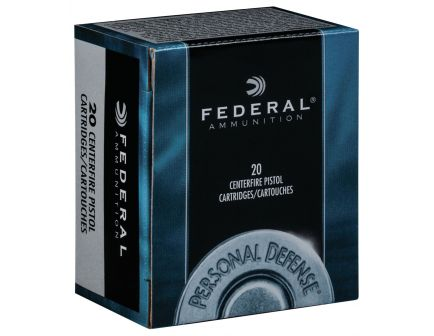 Federal Personal Defense Revolver 125 gr Jacketed Hollow Point .357 Mag Ammo, 20/box - C357B