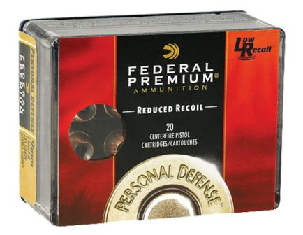Federal Premium Personal Defense Hydra-Shok Low Recoil 135 gr Jacketed Hollow Point .40 S&W Ammo, 20/box - PD40HS4 H
