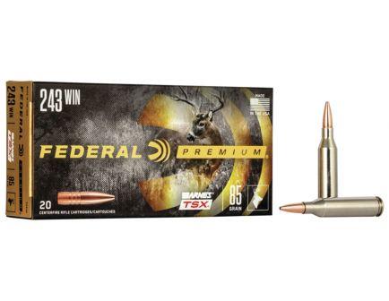 Federal Premium Barnes TSX 85 gr Triple-Shock X .243 Win Ammo, 20/box - P243K