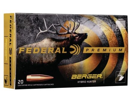 Federal Gold Medal 215 gr Berger Hybrid Hunter .300 Norma Mag Ammo, 20/box - GM300NMBH1