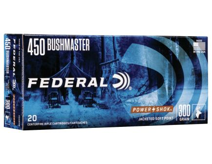 Federal Power-Shok 300 gr Jacketed Hollow Point .450 Ammo, 20/box - 450BMB