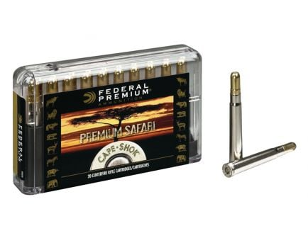 Federal Premium Safari Cape-Shok 500 gr Trophy Bonded Sledgehammer Solid .458 Win Mag Ammo, 20/box - P458T3