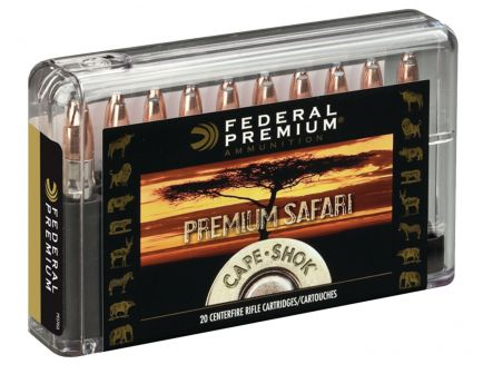 Federal Premium Safari Cape-Shok 570 gr Swift A-Frame .500 Nitro Express Ammo, 20/box - P500NSA