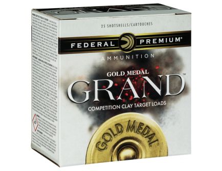 """Federal Premium Gold Medal Grand Paper 2.75"""" 12 Gauge Ammo 8, 25/box - GMT1758"""