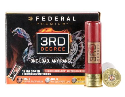 "Federal Premium 3rd Degree with Heavyweight TSS 3.5"" 12 Gauge Ammo 5, 6, 7, 5/box - PTDX139567"