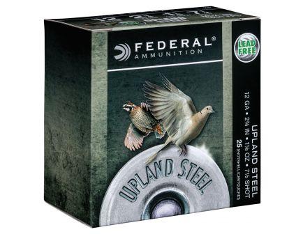 "Federal Upland Steel 2.75"" 12 Gauge Ammo 7-1/2, 25/box - USH1275"