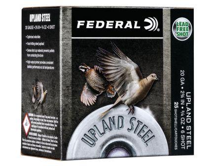 "Federal Upland Steel 2.75"" 20 Gauge Ammo 6, 25/box - USH20 6"