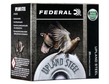 "Federal Upland Steel 2.75"" 20 Gauge Ammo 7-1/2, 25/box - USH2075"