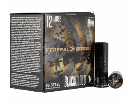"Federal Black Cloud FS Steel 3"" 12 Gauge Ammo 2, 25/box - PWBXI142 2"
