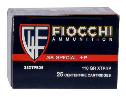 Fiocchi Extrema 110 gr XTP Hollow Point .38 Spl +P Ammo, 25/box - 38XTPB25