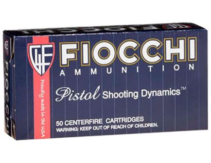 Fiocchi Shooting Dynamics 165 gr Jacketed Hollow Point .40 S&W Ammo, 50/box - 40SWC
