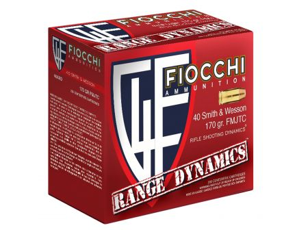 Fiocchi Range Dynamics 170 gr Full Metal Jacket Truncated-Cone .40 S&W Ammo, 1000 Rounds - 40ARD