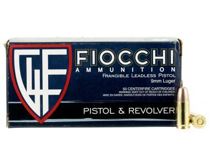 Fiocchi Shooting Dynamics 100 gr Non-Tox Frangible 9mm Ammo, 50/box - 9FRANG