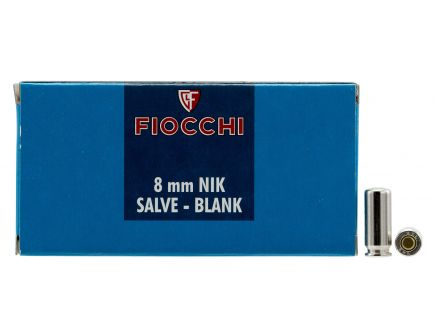 Fiocchi 8mm Blank Ammo, 50 Rounds - 8MMBLANK