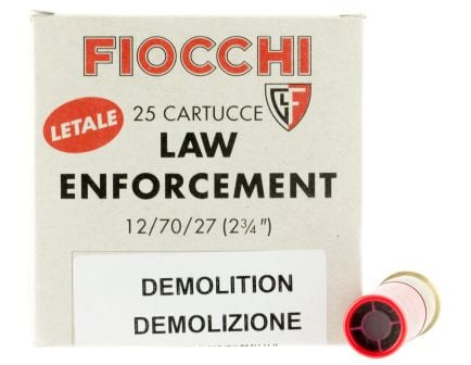 """Fiocchi Lead and Wax 2.75"""" 12 Gauge Ammo, 25 Rounds- 12LEDEMO"""
