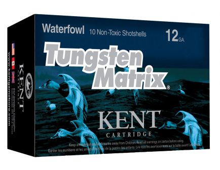"Kent Cartridge Tungsten Matrix 2.75"" 12 Gauge Ammo 5, 10/box - C122NT405"