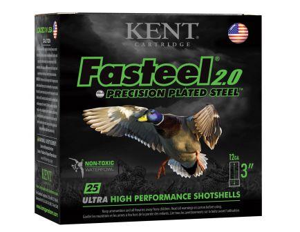 "Kent Cartridge Fasteel 2.0 Precision Plated Steel 3"" 12 Gauge Ammo 1, 25/box - K123FS361"