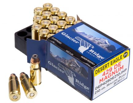 Magnum Research Desert Eagle 210 gr Jacketed Hollow Point .429 DE Ammo, 20/box - DEP429DE210J