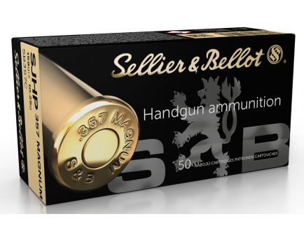 Sellier & Bellot 158 gr Semi-Jacketed Hollow Point .357 Mag Ammo, 50/box - SB357C