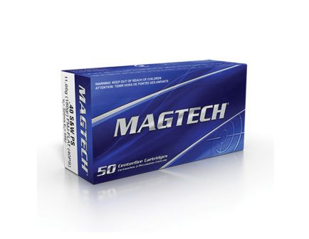 Magtech 180 gr Full Metal Jacket Flat Nose .40 S&W Ammo, 50/box - 40PS