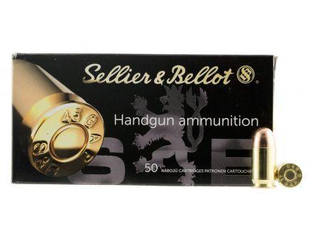 Sellier & Bellot 230 gr Full Metal Jacket .45 GAP Ammo, 50/box - SB45GAP