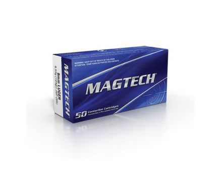 Magtech 124 gr Jacketed Soft Point 9mm Ammo, 50/box - 9S