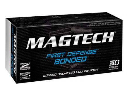 Magtech First Defense 147 gr Jacket Hollow Point Bonded 9mm Ammo, 50/box - 9BONC