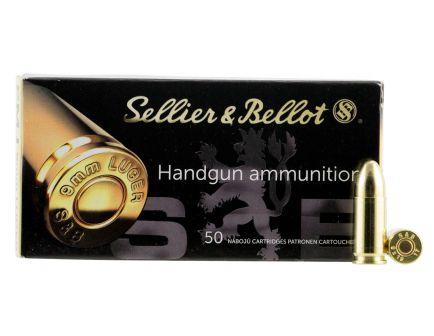 Sellier & Bellot 124 gr Full Metal Jacket 9mm Ammo, 50/box - SB9B