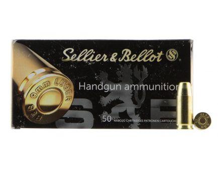 Sellier & Bellot 150 gr Full Metal Jacket 9mm Ammo, 50/box - SB9SUBB