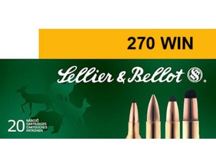 Sellier & Bellot 150 gr Semi-Jacketed Soft Point .270 Win Ammo, 20/box - SB270A