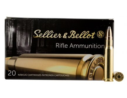 Sellier & Bellot 180 gr Semi-Jacketed Soft Point Cutting Edge .308 Win/7.62 Ammo, 20/box - SB308F