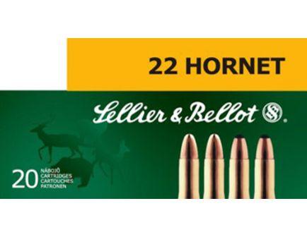 Sellier & Bellot 45 gr Full Metal Jacket .22 Hornet Ammo, 20/box - SB22HA