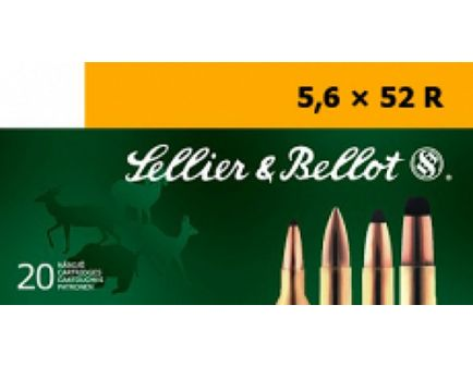 Sellier & Bellot 70 gr Full Metal Jacket 5.6mmx52R Ammo, 20/box - SB5652RB