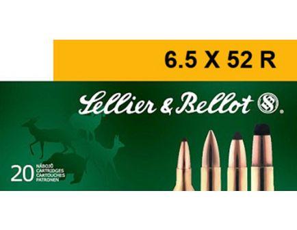Sellier & Bellot 117 gr Semi-Jacketed Soft Point 6.5x52mmR Ammo, 20/box - SB6552RA